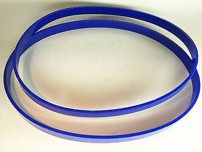 """Blue Urethane Band Saw Set of 2 TIRES fit HITACHI CB13F 1/8"""" Ultra thick"""