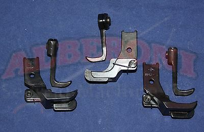 "CONSEW 206RB 225 226 Juki 562 563 Edge Guide Feet  SET OF 3 1/8"" 3/16"" 1/4"""