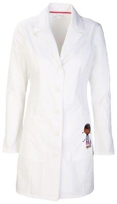 "Cherokee Tooniforms 33"" Lab Coat TF401 WHTW White Free Shipping"