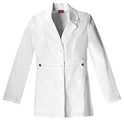 "Dickies 28"" Lab Coat 82408 DWHZ White Free Shipping"