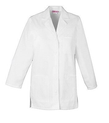 "Cherokee 32"" Lab Coat 1462 WHT White Free Shipping"