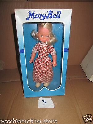 Galba Baravelli Doll Mary Bell Marybell Anni '70 Bambola Muneca Poupee 4