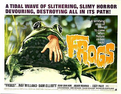 Frogs - Ray Milland - A4 Laminated Mini Poster