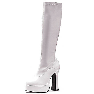 White ChaCha Female Womens Adult Costume Boots Shoes Heels,