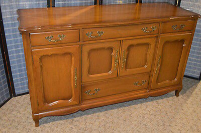 Vintage French Provincial Style Cherry Server/Buffet/Accent Chest