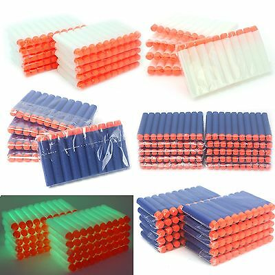 100-900PC Gun Soft Refill Bullets Darts Round Head Blaster Nerf N-strike Kid Toy