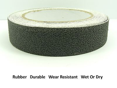 "GREY 25mm (1"") Wide RUBBER Anti NON Slip Safety TAPE ~Shower/ Tiles/ Bathtub~"