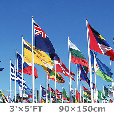 3'x5' FT 90x150cm World Country National USA UK Canada Germany Flag Banner