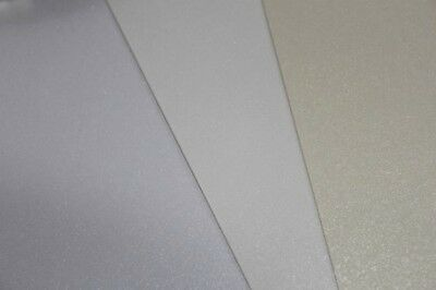 10 A4 Sheets of Pearlescent shimmer card  (white, Ivory, Cream) 270-300gsm