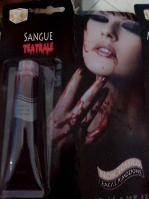 Sangue Finto Teatrale Cosplay Carnevale Horror Halloween Party Scherzo Blood