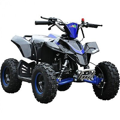 Rebo LT50A Kids Mini 49cc 2-stroke air cooled Petrol Quad Bike ATV - Blue