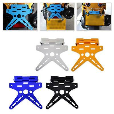 Adjustable Number License Plate Mount Holder Bracket Motorcycle Aluminum Alloy