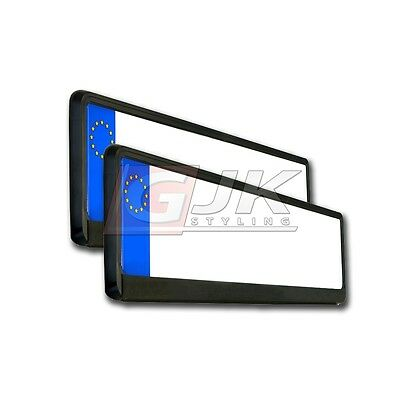2x SUPPORT PLAQUE IMMATRICULATION VOITURE CADRE LICENCE NOIR MAT