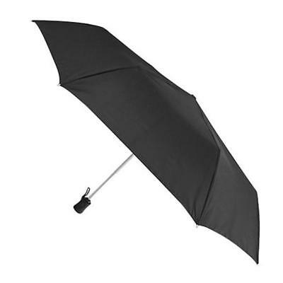 Dewberry Black Open Close Automatic Folding Umbrella Mens/Ladies
