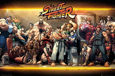Street Fighter Characters Poster 62 Size 61 x 91.5cm FAST N FREE DELIVERY
