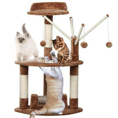Cat Scratching Post Scratcher Tree Activity Toy Pet Playing Centre Climbing Bed