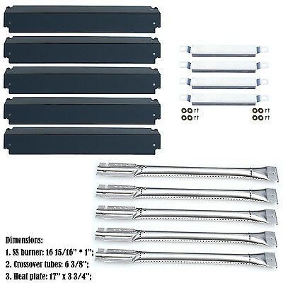 Replacement Repair Kit Burner&Heat Plate&Carryover Tubes for Charbroil Gas Grill
