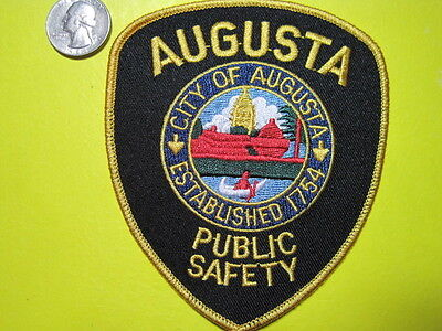 Augusta Maine Police Patch Capitol City*
