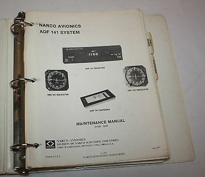 Narco Avionics ADF 141 System Maintenance Manual