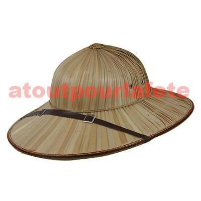 Chapeau Casque,Explorateur,Colonial,paille,safari,Tropical,Empire,Deguisement
