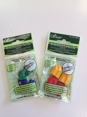 Point Protector For Circular Knitting Needles Small/Large