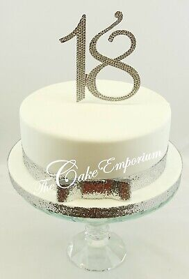 Extra Large Rhinestone Numbers  18 21 25 30 40 50 60 70 80 50G Cake Topper Sets