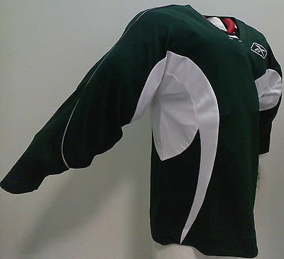 NEW REEBOK ICE HOCKEY JERSEY IN SIZE ADULT S (Green/white)