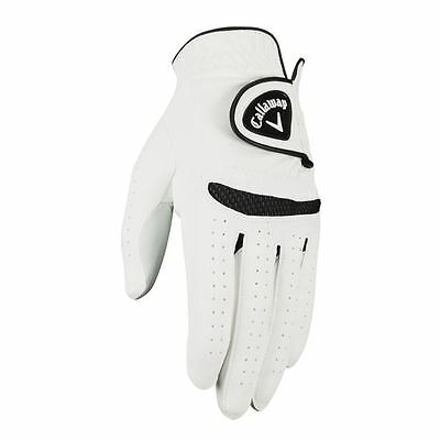 **Pack of 1** Callaway 2017 Weather Spann Mens All Weather Golf Glove Left Hand