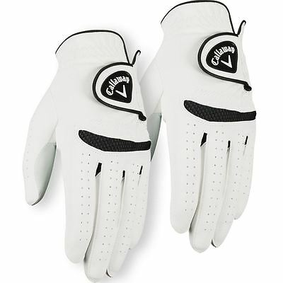 **Pack of 2** Callaway 2016 Weather Spann Mens All Weather Golf Glove Left Hand
