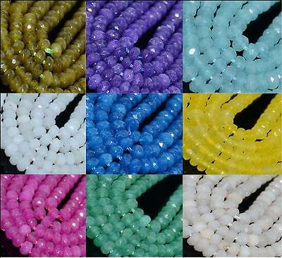 """2*4mm Mulitcolor Faceted Agate Round Gemstone Loose Beads 16"""" Finding Diy Craft"""