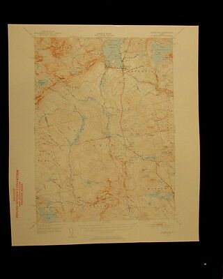Greenville Maine 1956 vintage USGS Topographical chart map