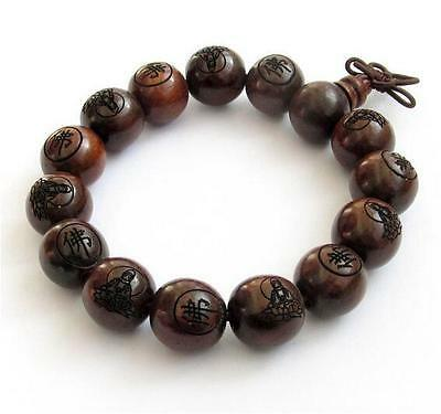 natural green wingceltis wood beads Carved Buddha 10-20mm hand string bracelets