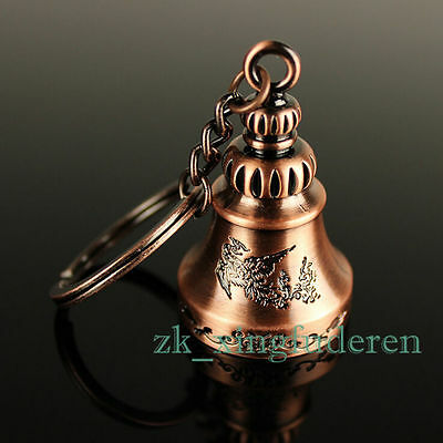 New Asia metal Phoenix Bell Key Chain Ring Temple Feng Shui Charm