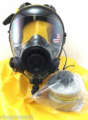 Mestel Safety SGE 400/3 Gas Mask w/Integrated Hood, Drinking Option & NBC Filter