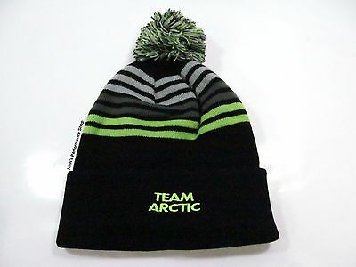 2017 Men's Team Arctic Cat Stripes w/ Pom Beanie Hat 5273-085