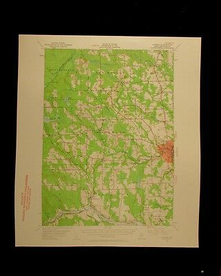 Caribou Maine 1961 vintage USGS Topographical chart map