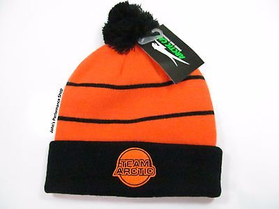 2017 Men's Team Arctic Cat Orange & Black Beanie w/ Pom Hat 5273-078