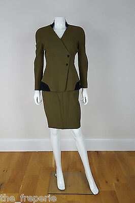 *thierry Mugler* Vintage Structured Skirt Suit (42)