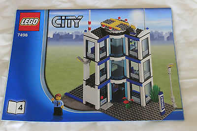 Lego City 7498 Police Station Booklet 4 Instructions Book ONLY