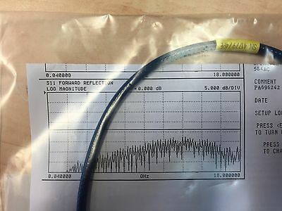 HUBER+SUHNER SUCOFLEX 104PE Up to 18GHz RF Test cable 50cm SMA Right Angle New