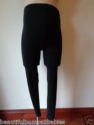 New Look Maternity Black Over Bump Maternity Leggings Size S 8-10