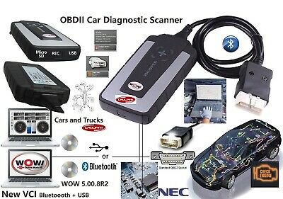 Diagnostic Grade Gold Pro Interface -Car Truck Scanner-2019 Wow Wurth -Bluetooth