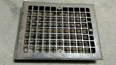 "Reclaimed Vintage Antique Cast Iron Register Vent 11"" x 14"" Copper Flash."