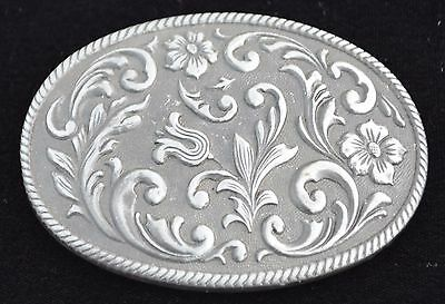 Western Style Large Oval Rodeo Belt Buckle Chambers Usa