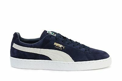 b4d879acf984a6 PUMA MENS SNEAKERS Suede Classic Plus Peacoat White 356568-51