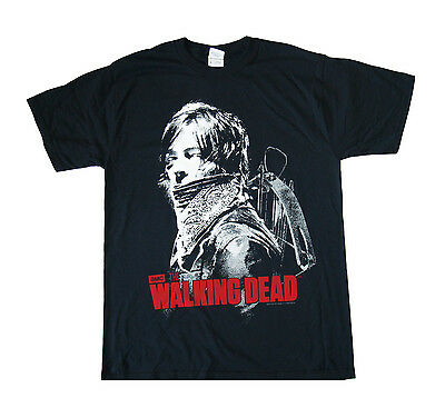 THE WALKING DEAD - Daryl with Bandana - T SHIRT S-M-L-XL-2XL Brand New Official