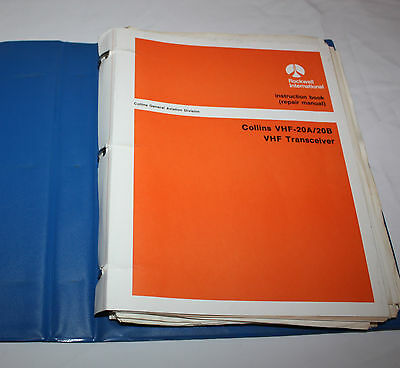Collins VHF-20A/20B VHF Transceiver Repair Manual Instruction Book