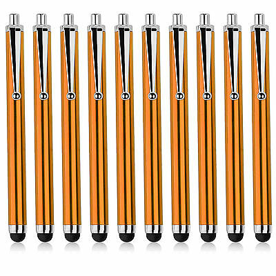 10 x Orange Universal Capacitive Stylus Pen for ALL Moble Phones,Tablet,IPAD