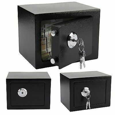 High Security Secure Steel Lock Safes Key Home Office Money Cash Safety Box - Ce