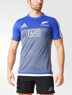 Performance Tee All Blacks New Zealand Adidas Training Shirt Grey 2016 17 Men
